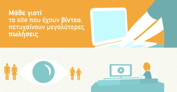 Μάθε γιατί τα site που έχουν βίντεο, πετυχαίνουν μεγαλύτερες πωλήσεις.
